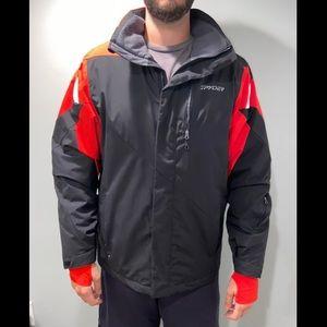 Spyder Ski Jacket Black & Red Men's